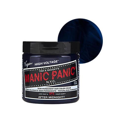 tume sinine juuksevärv