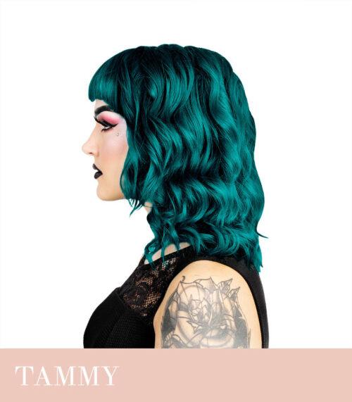 türkiis sinine juuksevärv